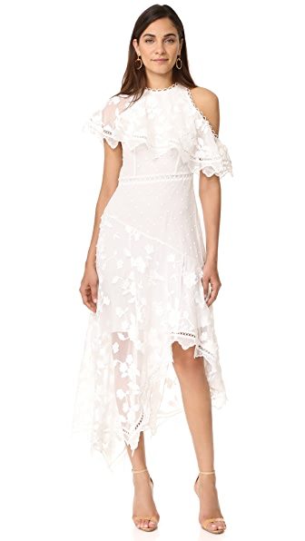 Zimmermann Mercer Bird Floating Dress - Ivory