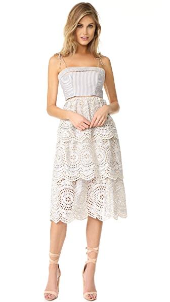 Zimmermann Meridian Stripe Sun Dress - Blue Stripe