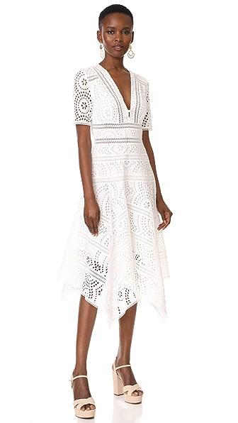 Фото Zimmermann Платье Meridian с вышивкой. Купить с доставкой