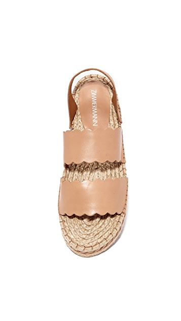 Zimmermann Scallop Espadrille Sandals