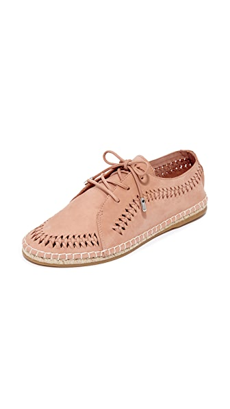 Zimmermann Woven Lace Up Espadrilles - Dusty Rose