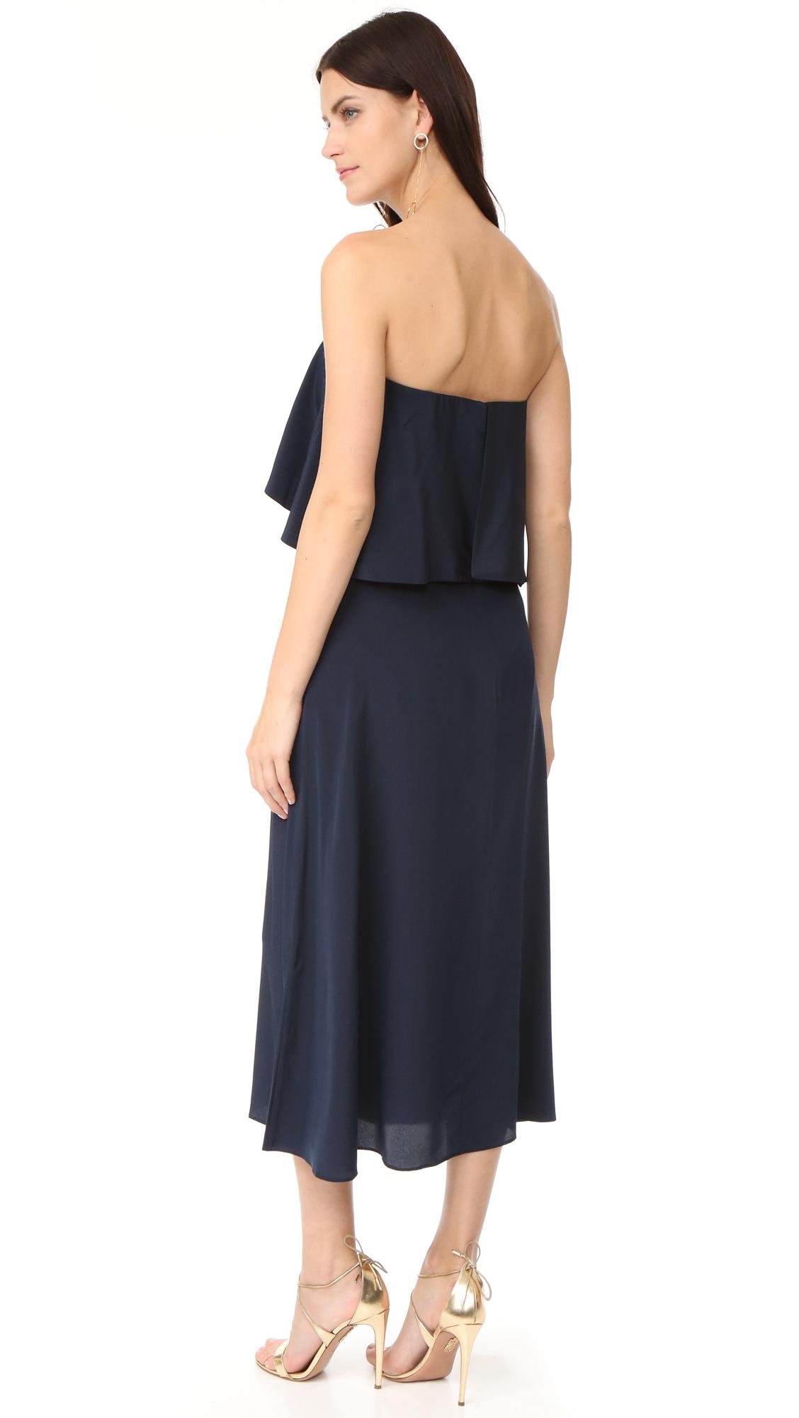 Zimmermann Silk Strapless Flounce Dress   SHOPBOP