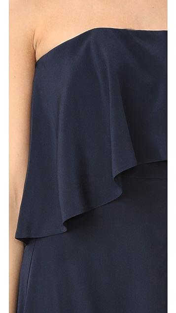 Zimmermann Silk Strapless Flounce Dress
