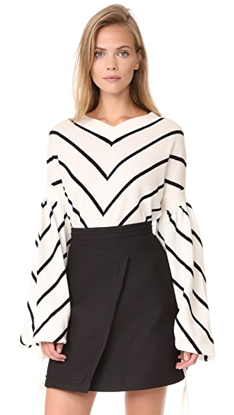 Zimmermann Maples Louche Sweater - Stripe