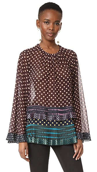 Zimmermann Maples Pleat Blouse