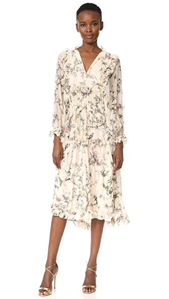 Zimmermann Maples Frill Dress - Cream Floral