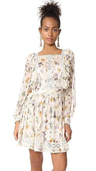 Zimmermann Rife Dandelion Dress In Dandelion Floral