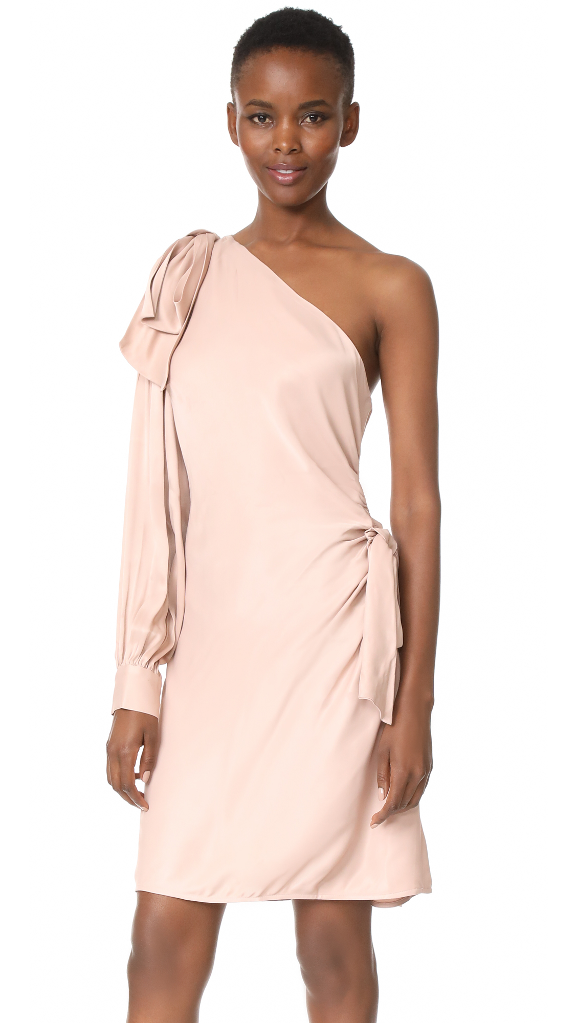 Zimmermann Bow Mini Dress - Blush