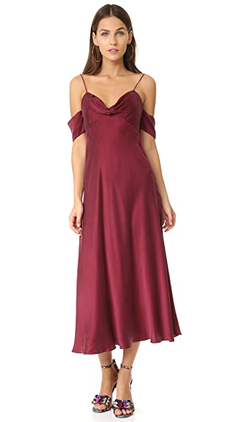 Zimmermann Drape Slip Dress - Burgundy