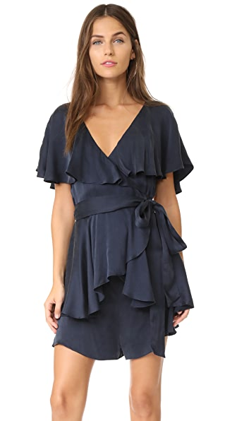 Zimmermann Wrap Romper In French Navy