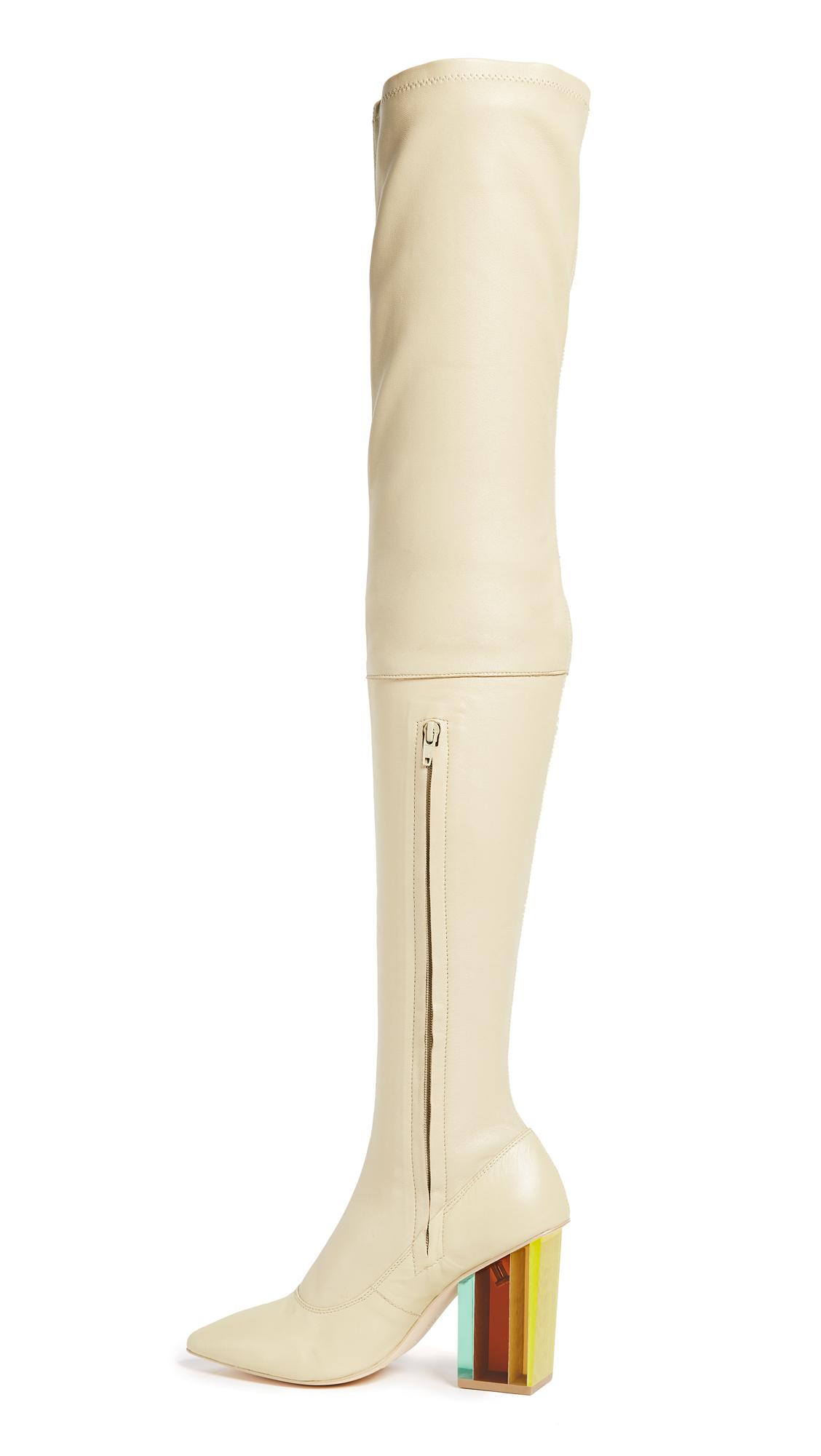 Zimmermann Strech Thigh High Boots - Putty