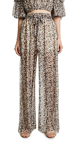 Zimmermann Prima Cherry Pants In Cherry Floral