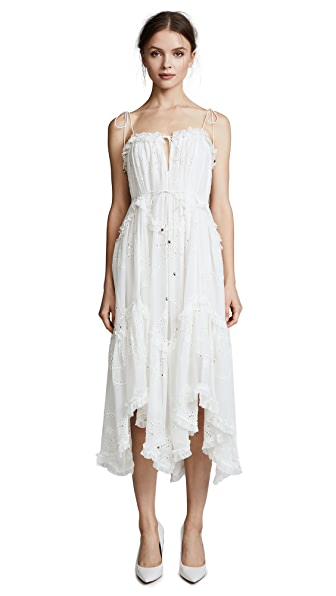 Zimmermann Prima Bow Floating Dress In Ivory