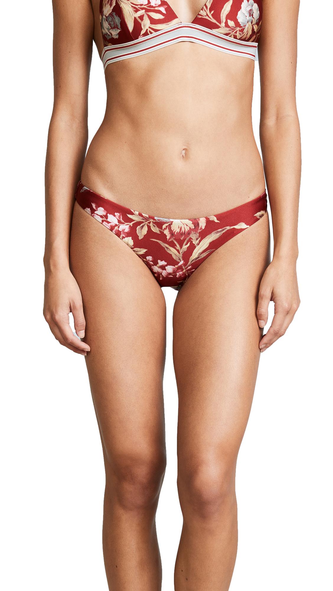 Zimmermann Corsair Skinny Bikini Bottoms - Washed Iris