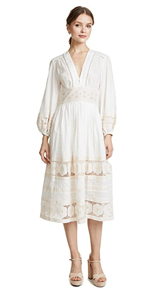 Zimmermann Prima Broiderie Day Dress In Ivory