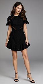 Zimmermann Helm Circles Flutter Dress