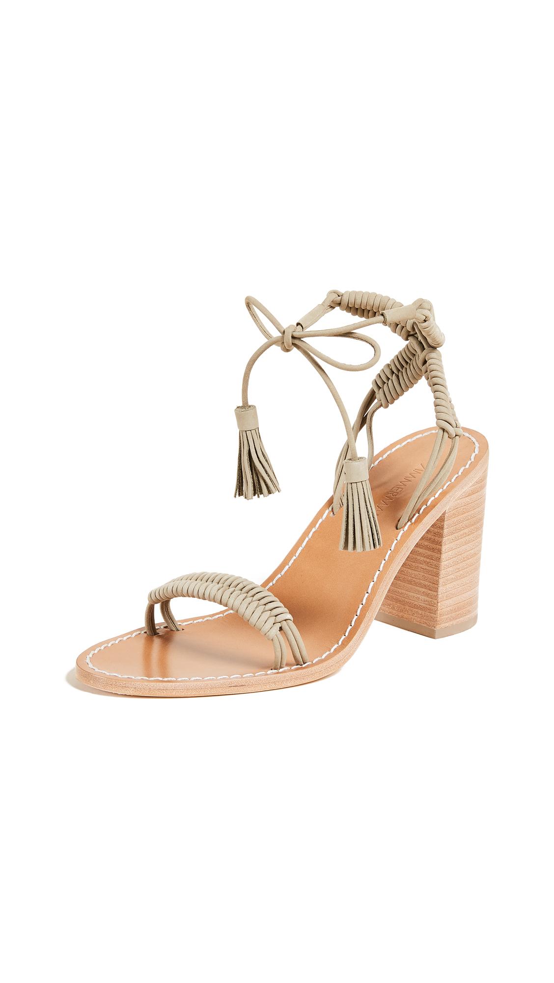 Zimmermann Wrap Weave Heels - Ash Olive