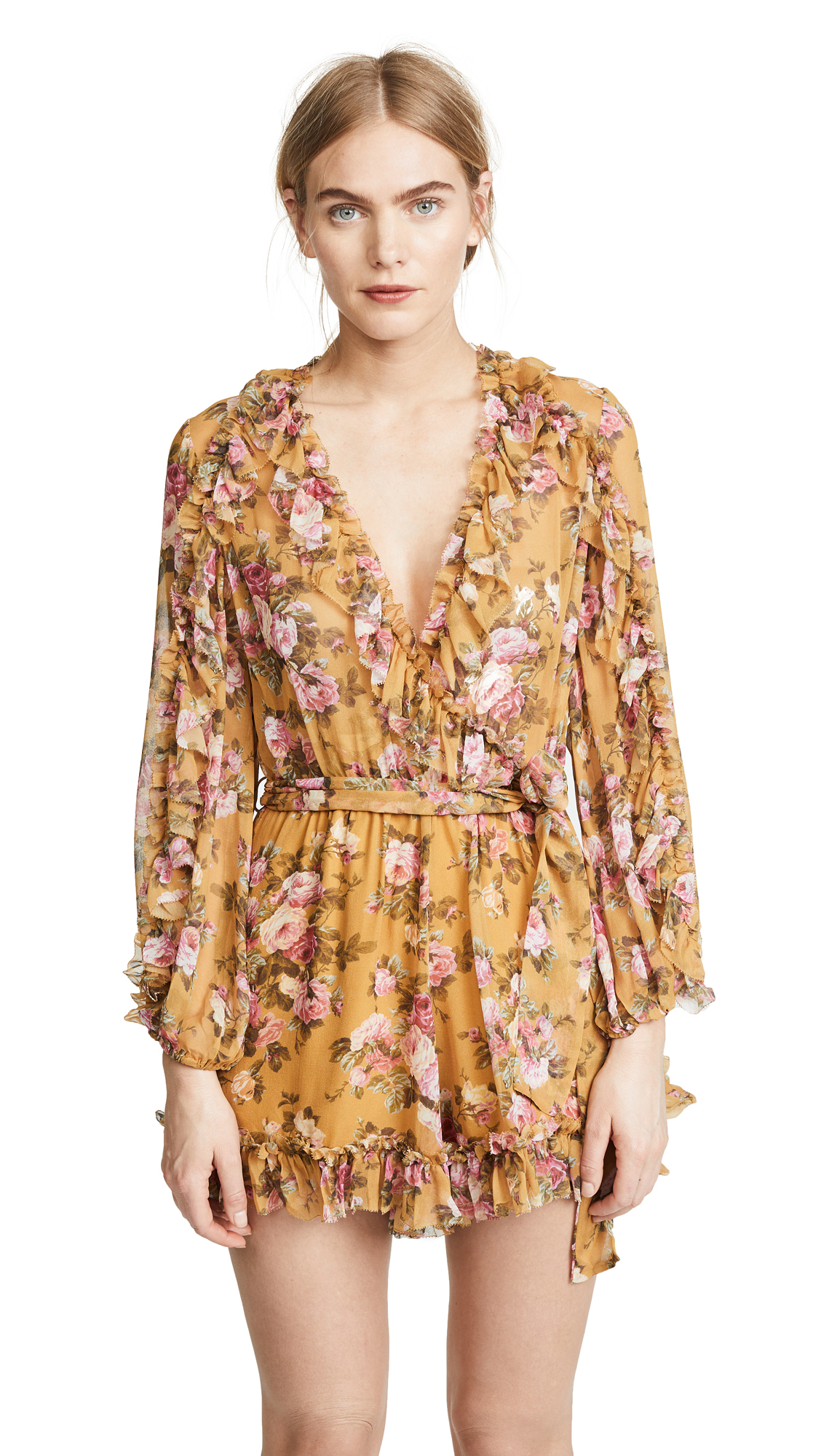 Zimmermann Golden Ruffle Romper