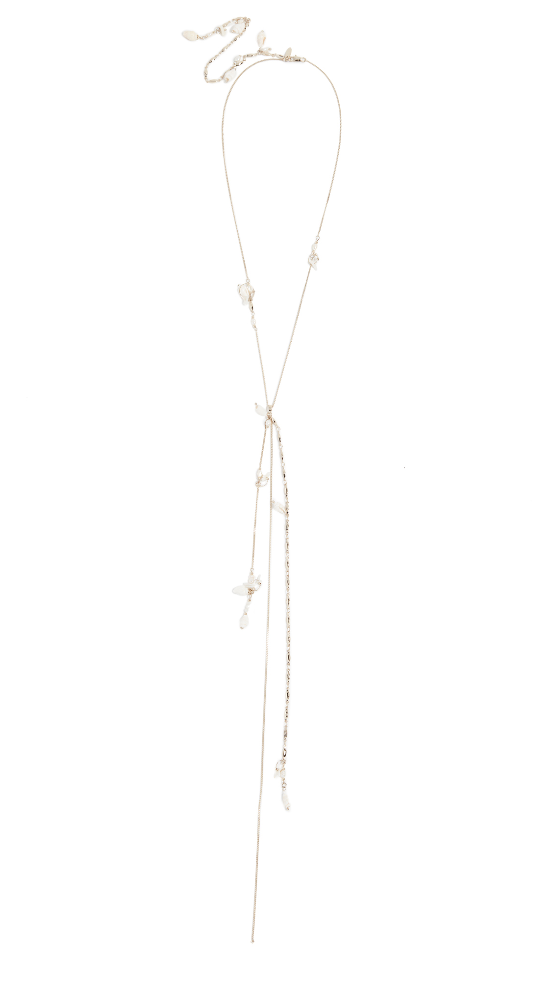 Zimmermann Chain and Shell Long Drop Necklace IjStb0Of5