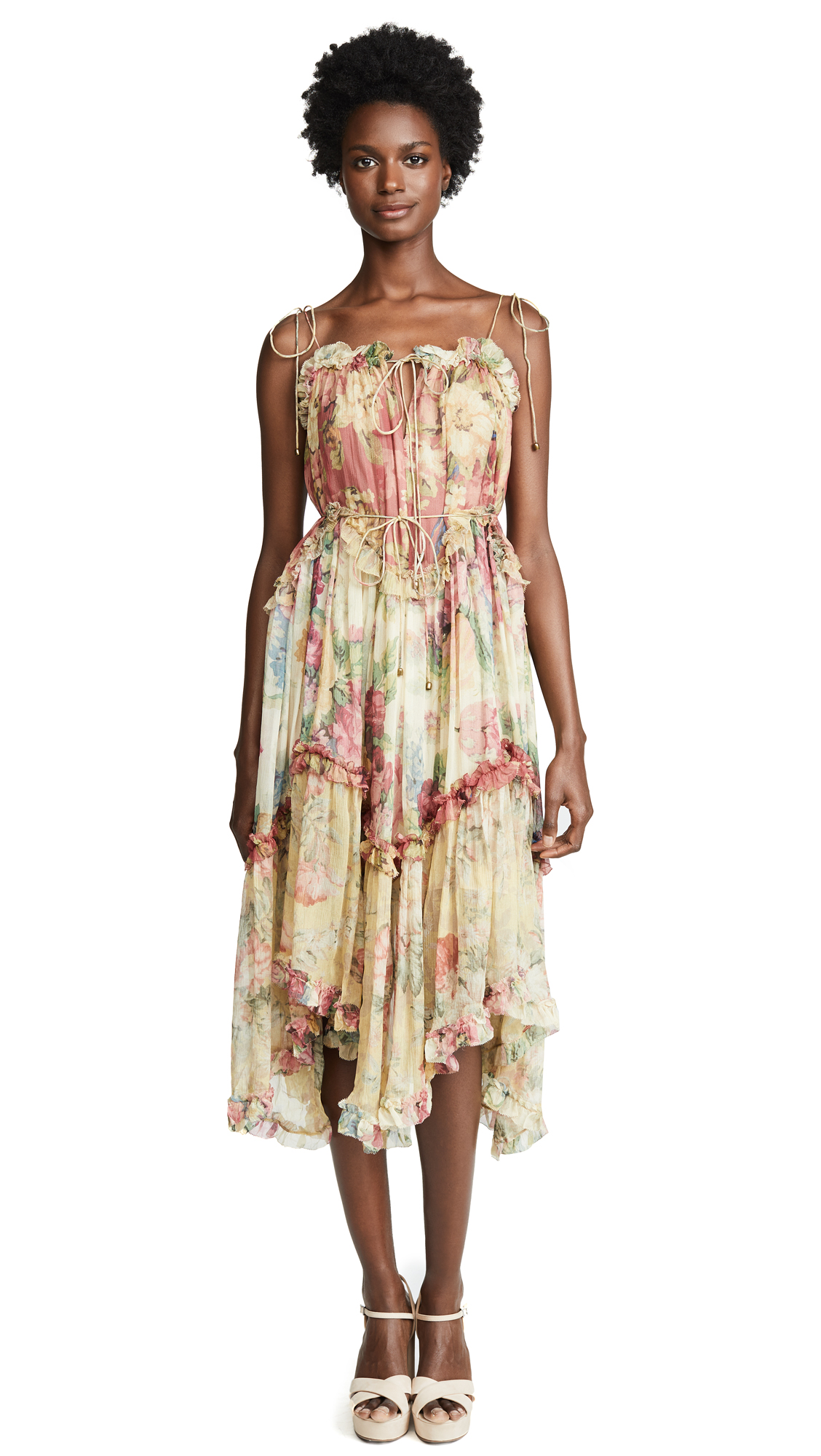 Zimmermann Melody Floating Dress In Splice