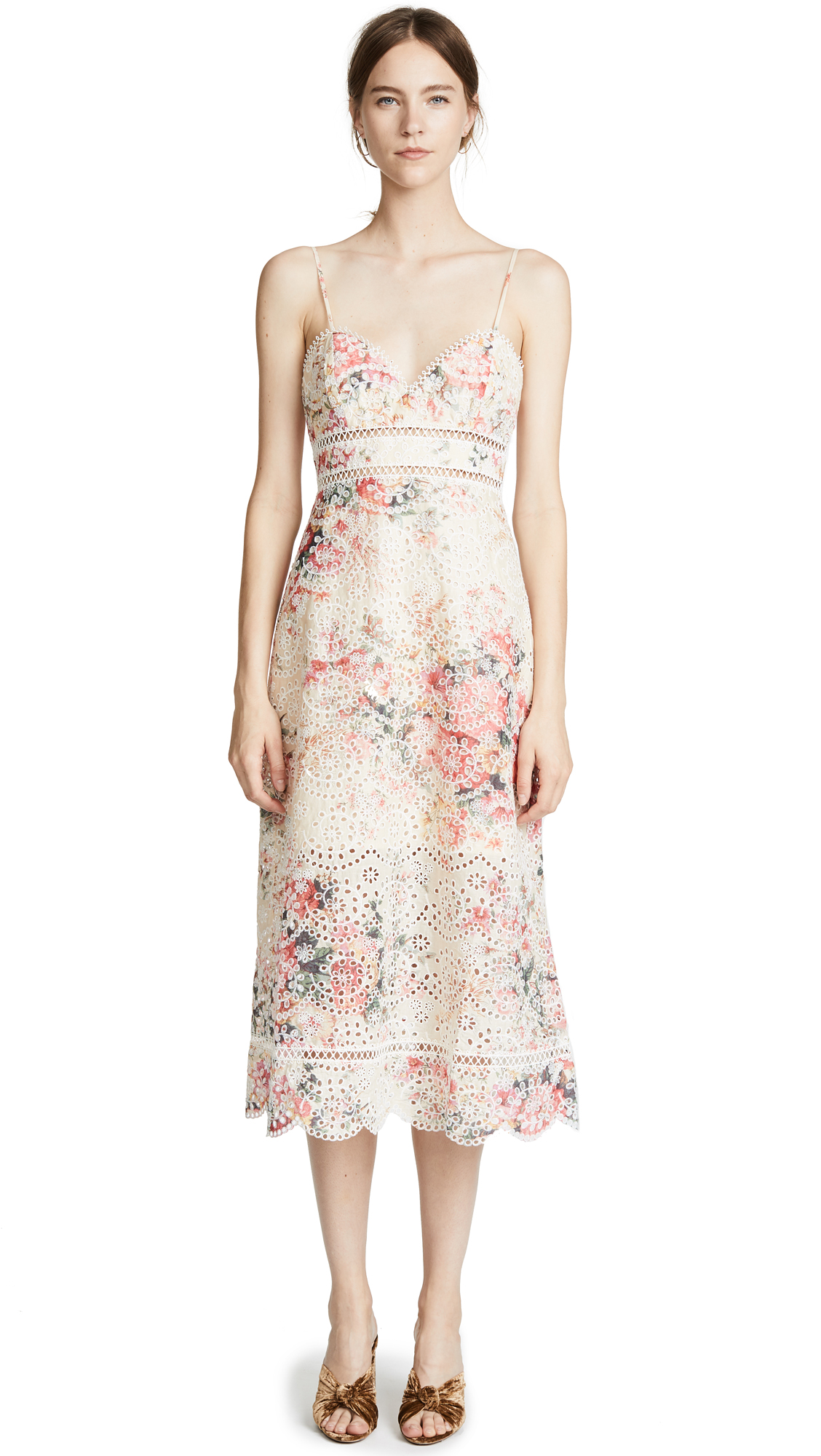 Zimmermann Laelia Diamond Bralette Dress - Meadow Floral