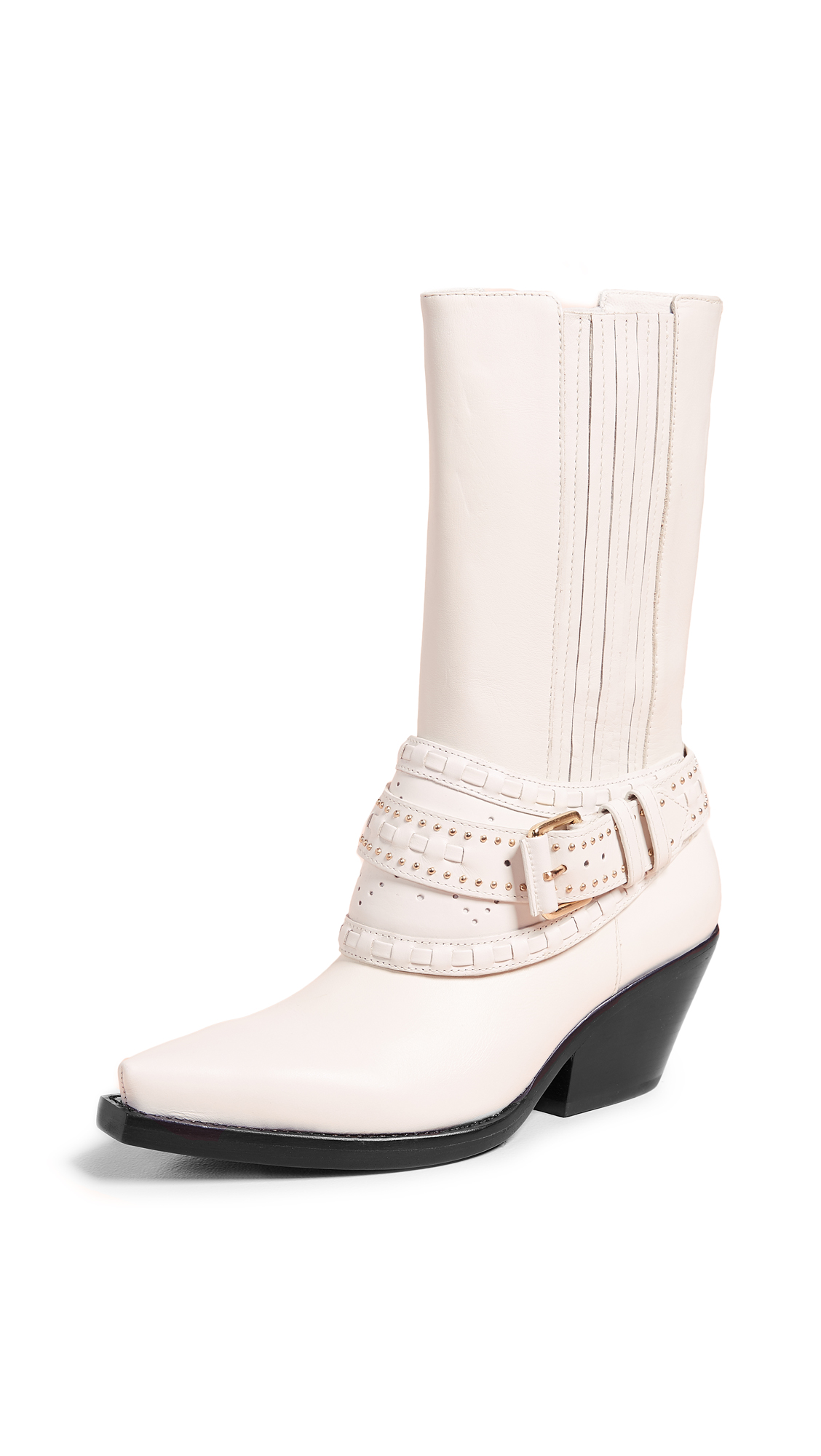 Zimmermann Cowboy Mid Calf Boots - White