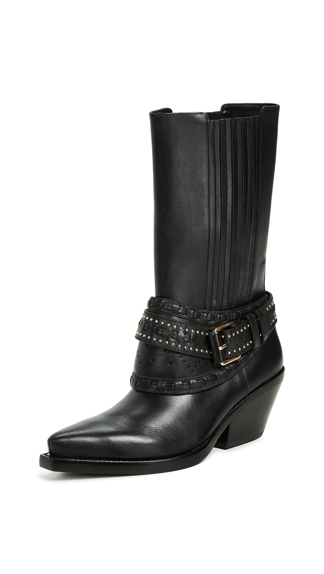 Zimmermann Cowboy Mid Calf Boots - Black