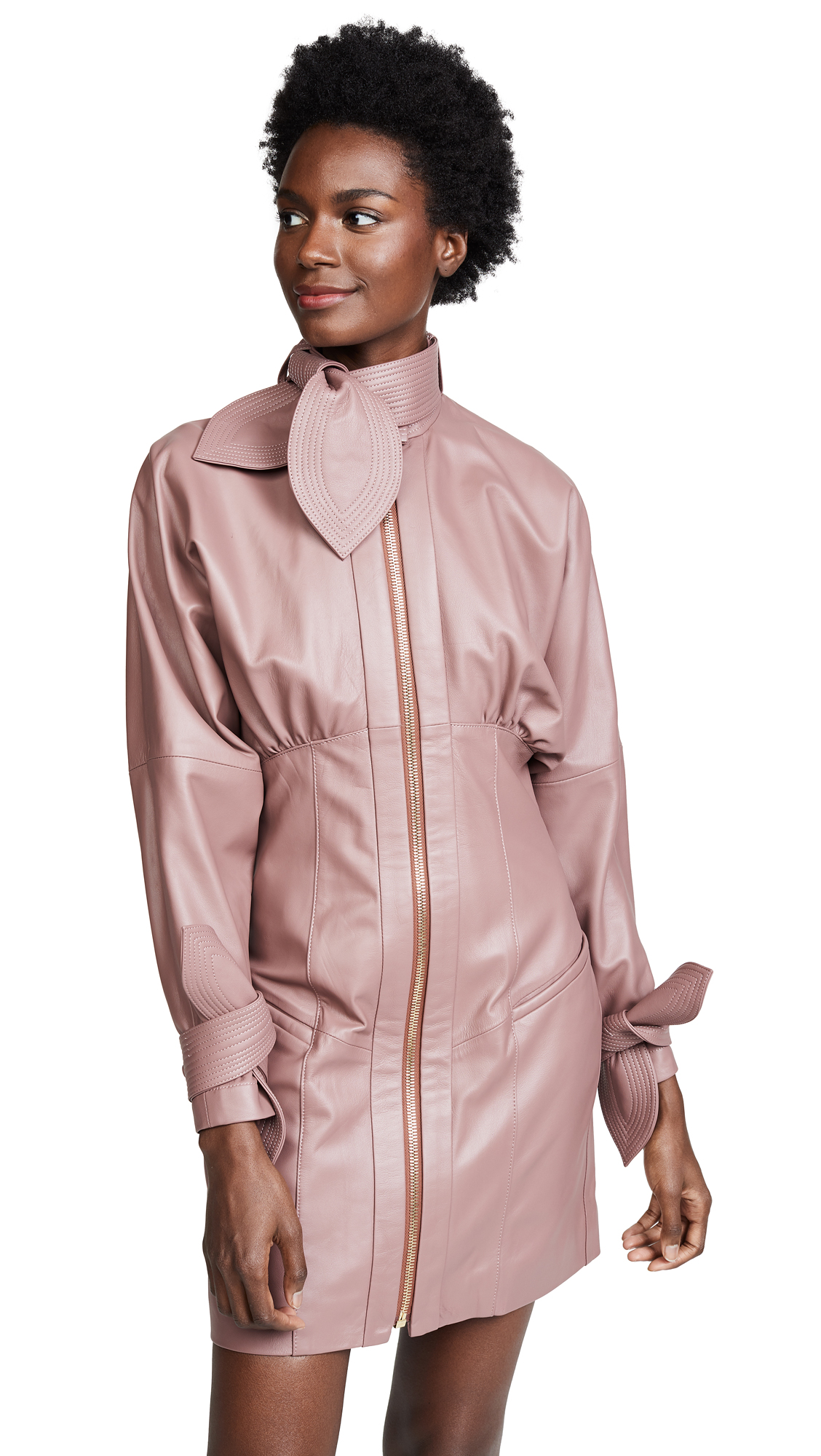 Zimmermann Temptest Leather Corset Dress