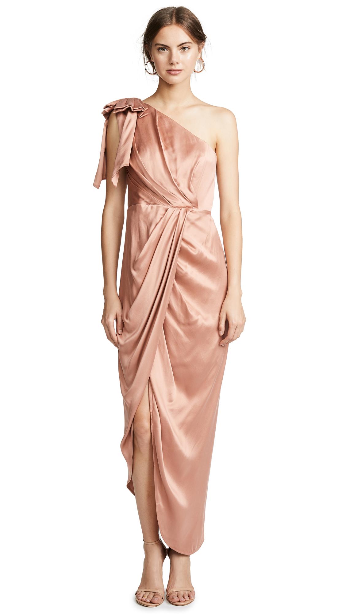 Zimmermann Bow Bodice Long Dress - Nude