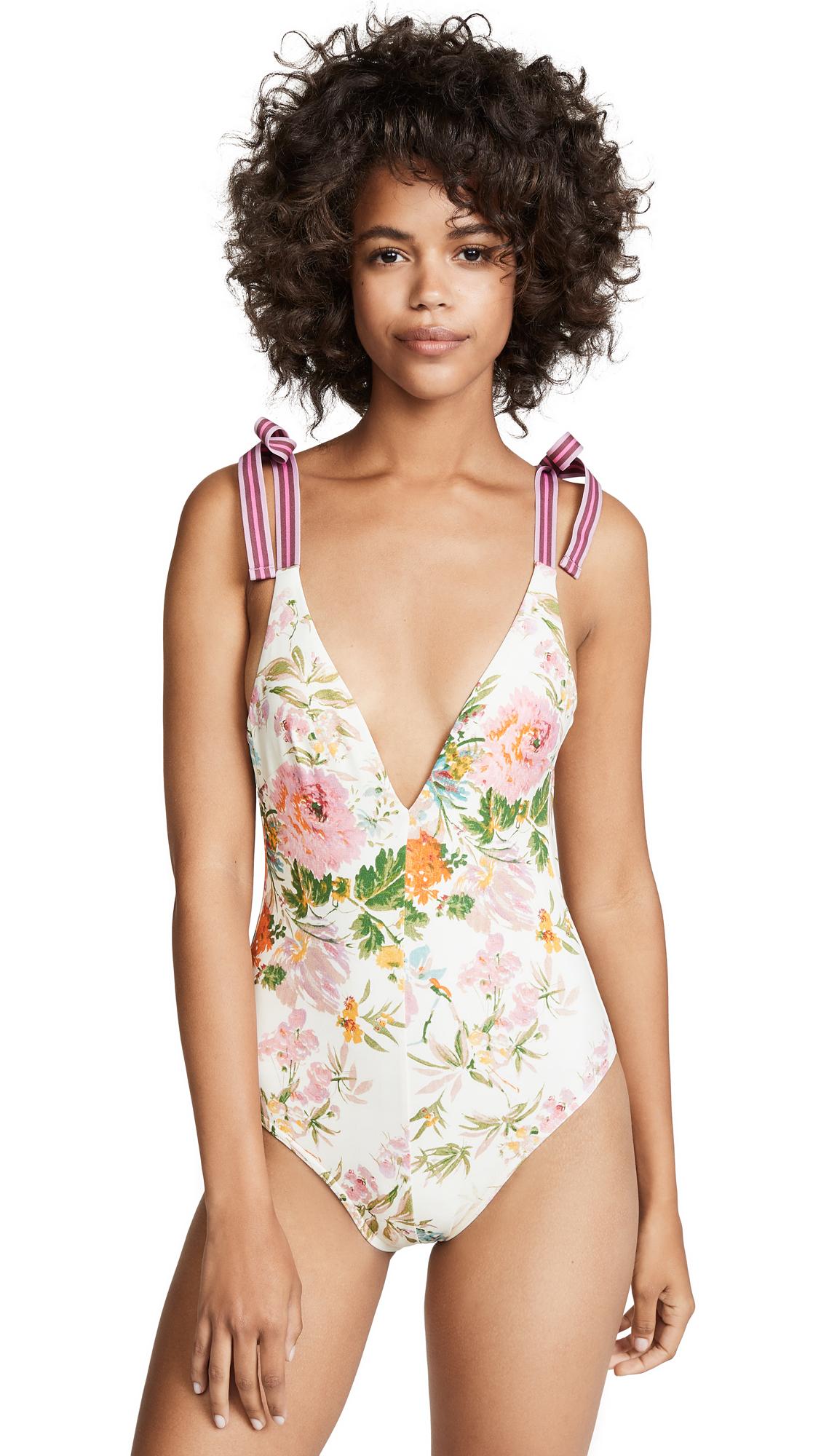 Heathers Tie Shoulder One Piece in Garden Floral