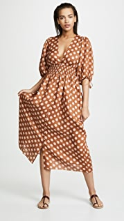 Zimmermann Primrose Shirred Waist Long Dress