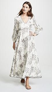 Zimmermann Платье Wayfarer с глубоким вырезом