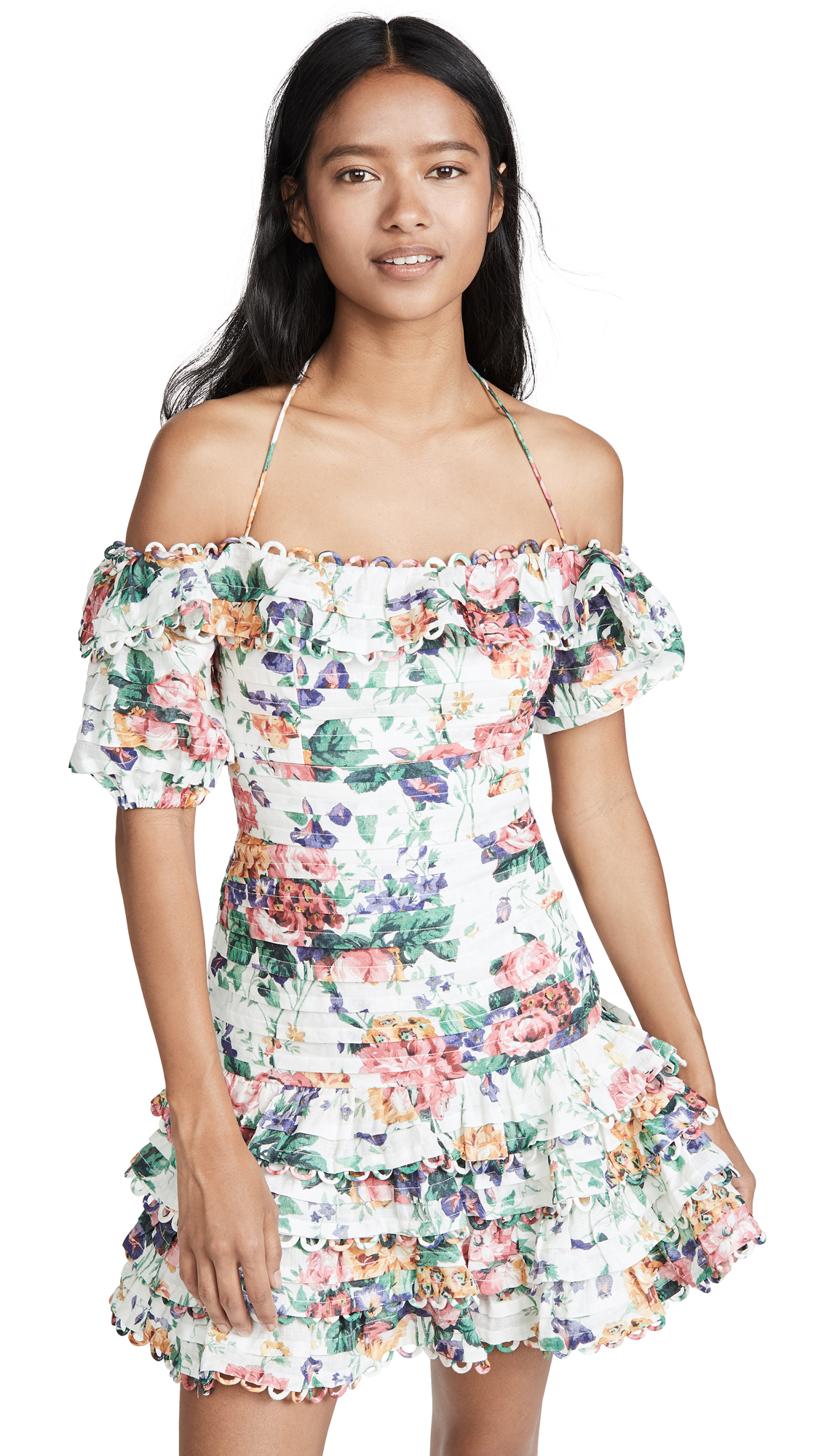 Buy Zimmermann online - photo of Zimmermann Allia Pintuck Short Dress