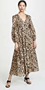 Zimmermann Veneto Plunge Long Dress