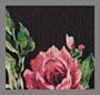 черный цветочный рисунок