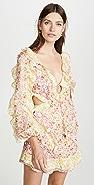 Zimmermann Goldie Spliced Short Dress