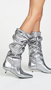 Zimmermann Сапоги на каблуках «рюмочка» с металлизированной отделкой