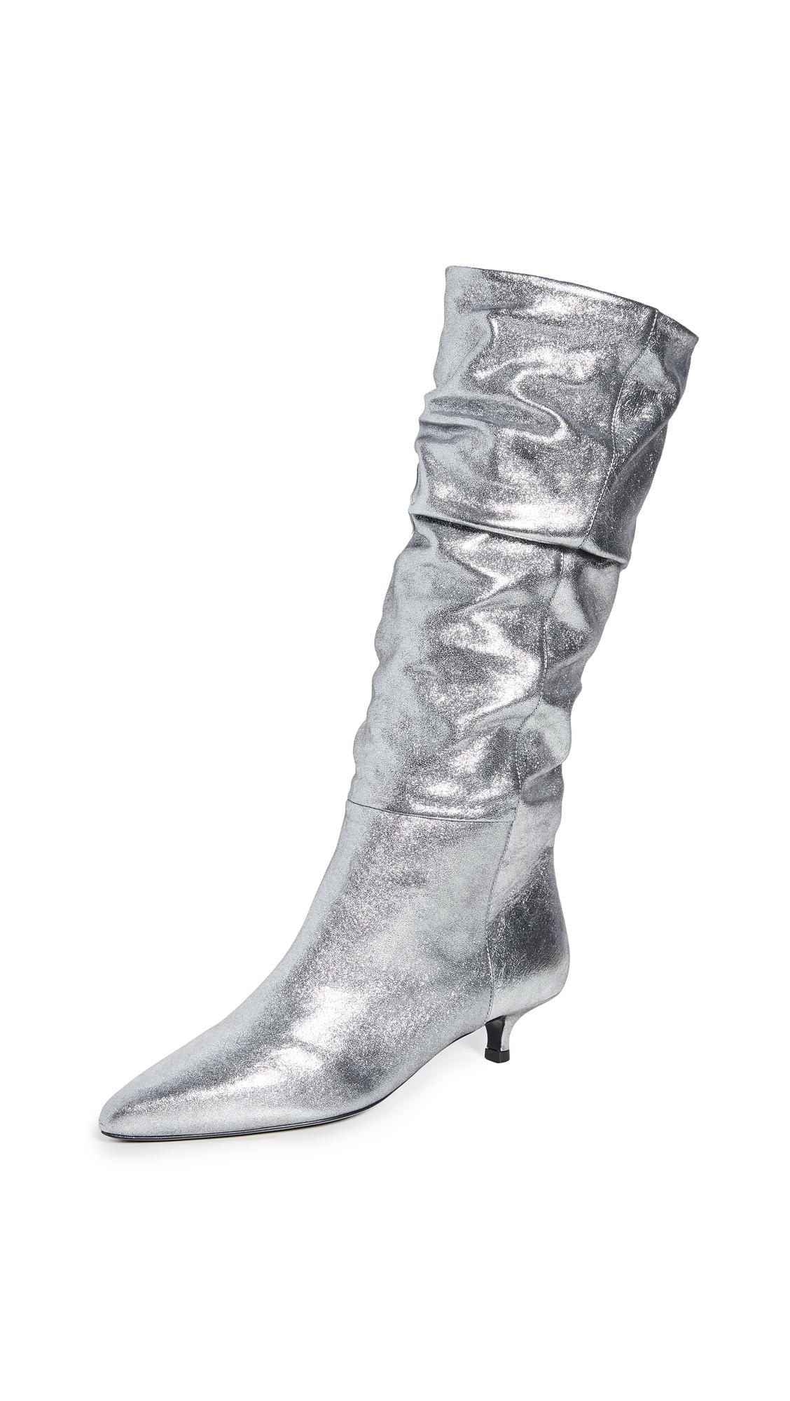Buy Zimmermann online - photo of Zimmermann Metallic Kitten Heel Boots