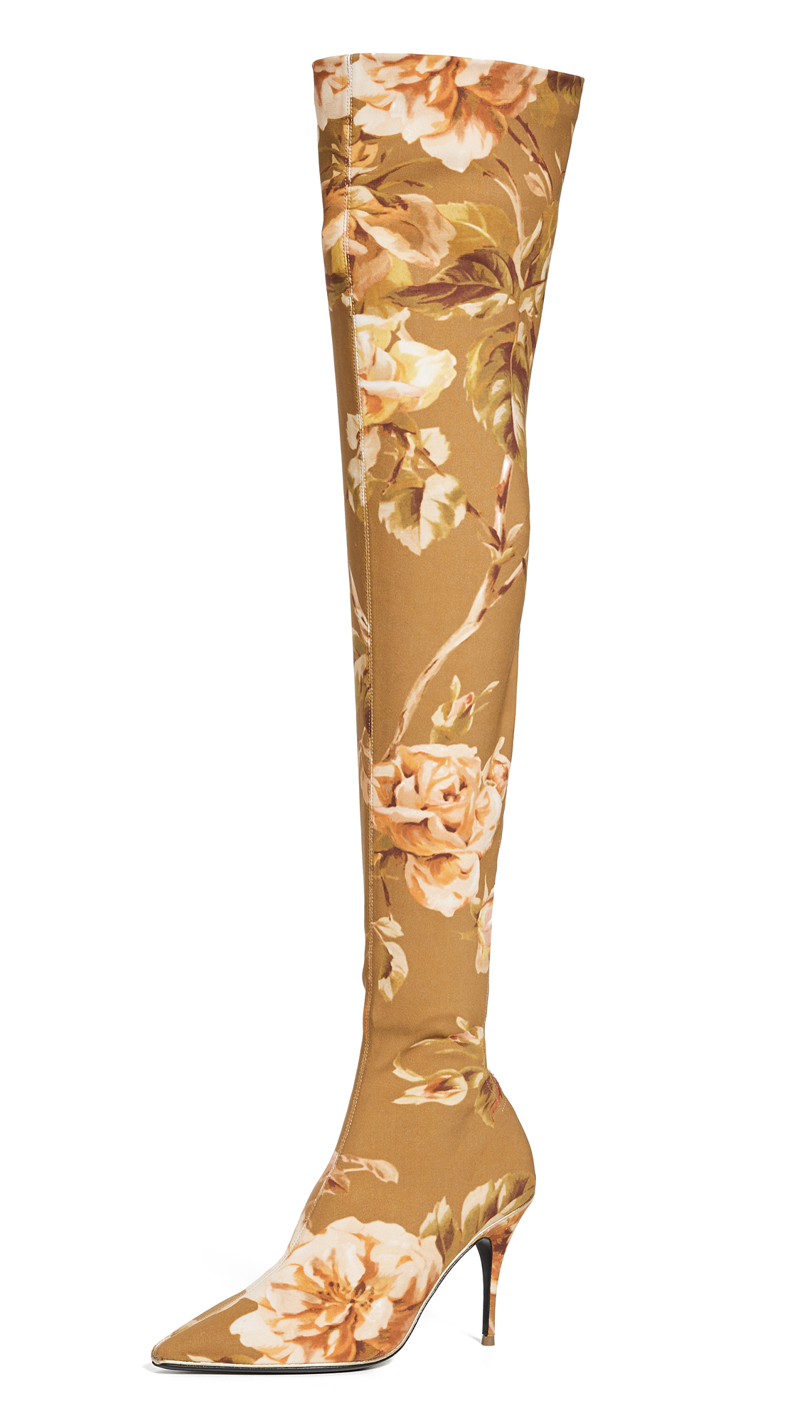 Buy Zimmermann online - photo of Zimmermann Over The Knee Zip Lycra Boots