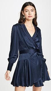 Zimmermann Espionage Silk Wrap Mini Dress