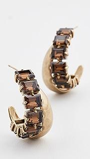 Zimmermann Crystal Hoop Earrings