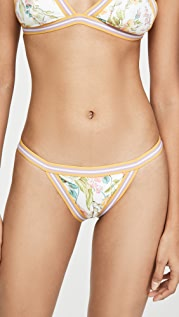 Zimmermann Zinnia Elastic Triangle Bikini Bottoms