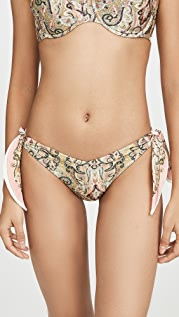 Zimmermann Freja Scarf Tie Bikini Bottoms