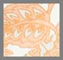 оранжевый с узором «павлиний глаз»