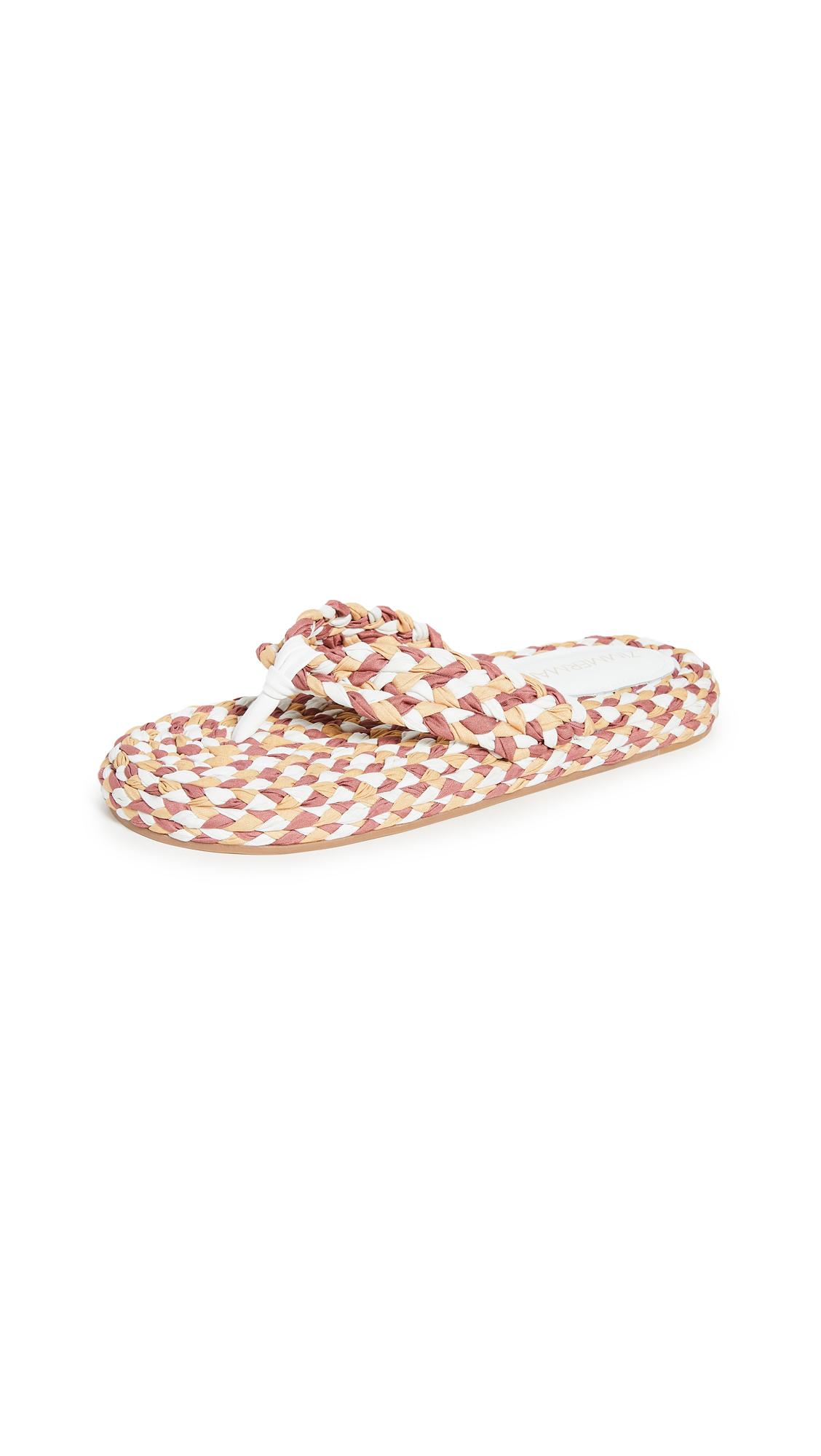 Zimmermann Cotton Braid Sandals - Yellow Multi