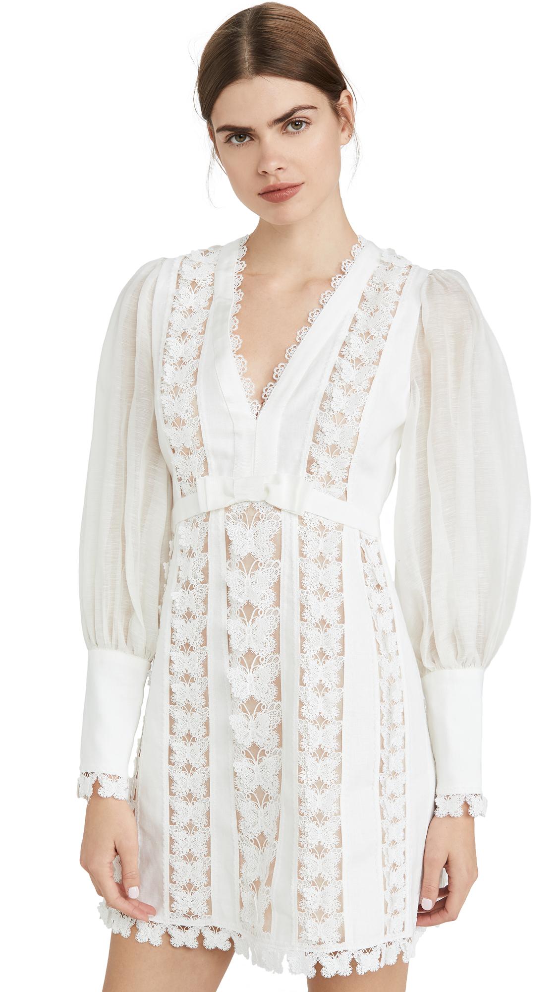 Buy Zimmermann Super Eight Flutter Mini Dress online beautiful Zimmermann Clothing, Dresses