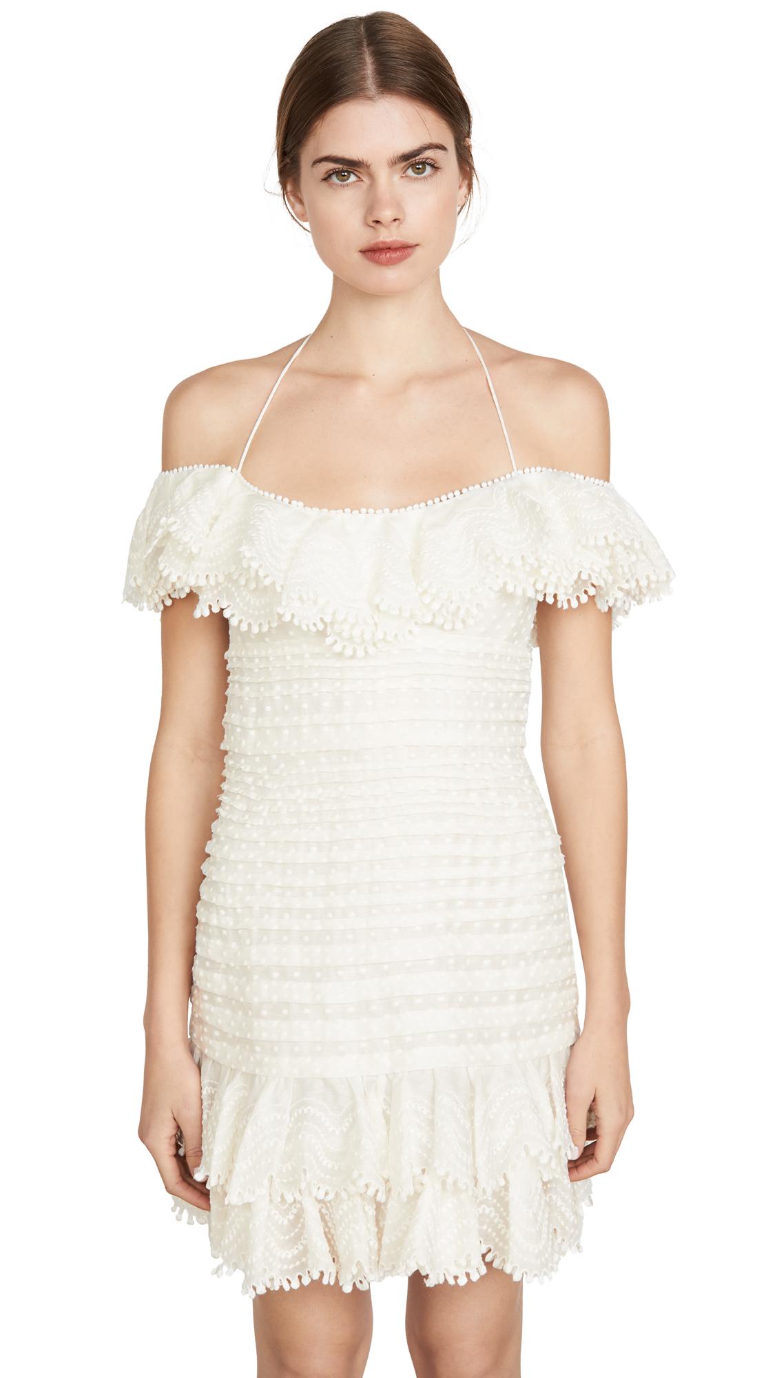 Buy Zimmermann Super Eight Off Shoulder Mini Dress online beautiful Zimmermann Clothing, Dresses