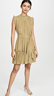 Zimmermann Super Eight Silk Frill Mini Dress
