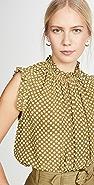 Zimmermann Super Eight 真丝褶边女式衬衫