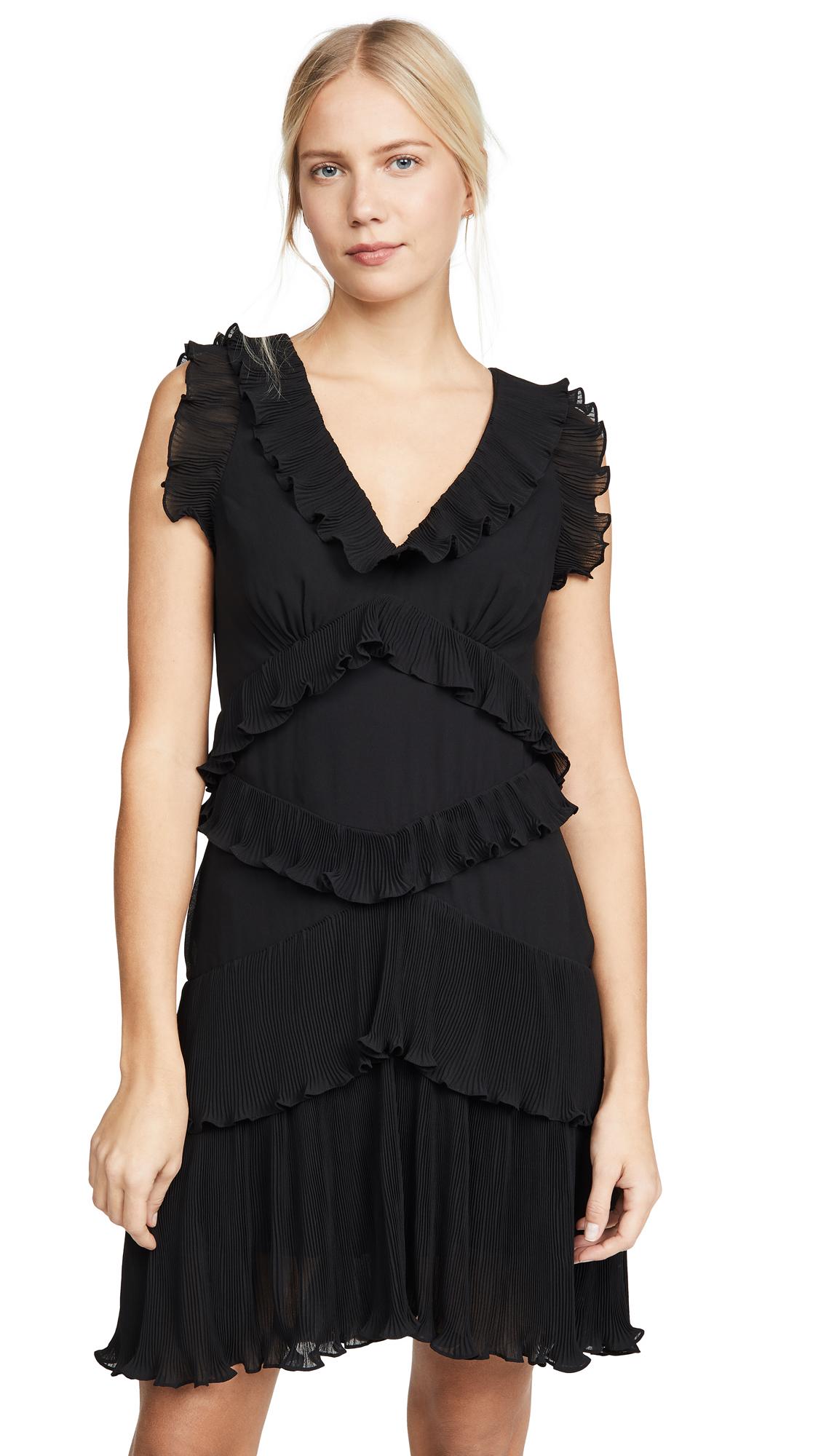 Buy Zimmermann Super Eight Pleated Frill Mini Dress online beautiful Zimmermann Clothing, Dresses